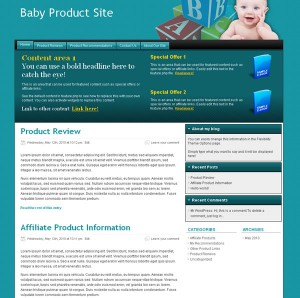 Baby Product Blog Theme