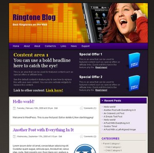 Cellphone Ringtone WordPress Theme